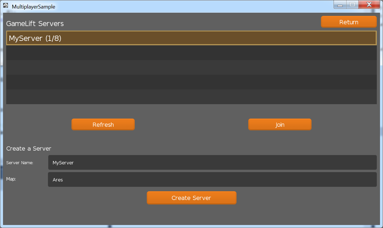 Game Server Browser Example